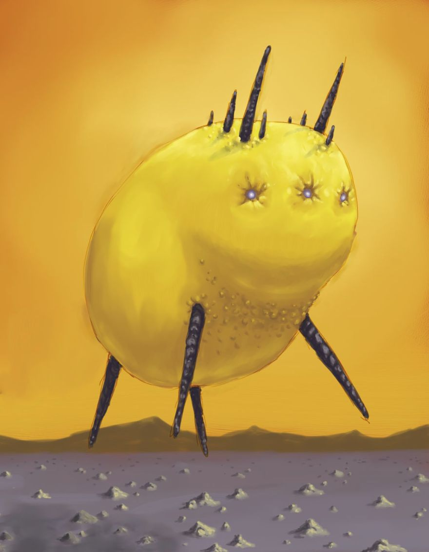 Also known as the fabled blimpbison, it ascends into the air by filling its body cavity with superlight gasses.  You... really don't want to know how it descends.
