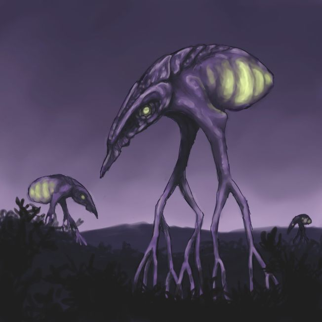 "...although in this rendition, ""Thing with Abdomen"" would be more accurate.  Or else just ""glowbeast""."