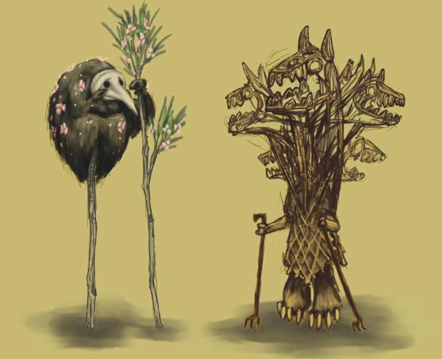 Alternately: Wolfgang & Sprout, the Neolithic Era's foremost comedy duo